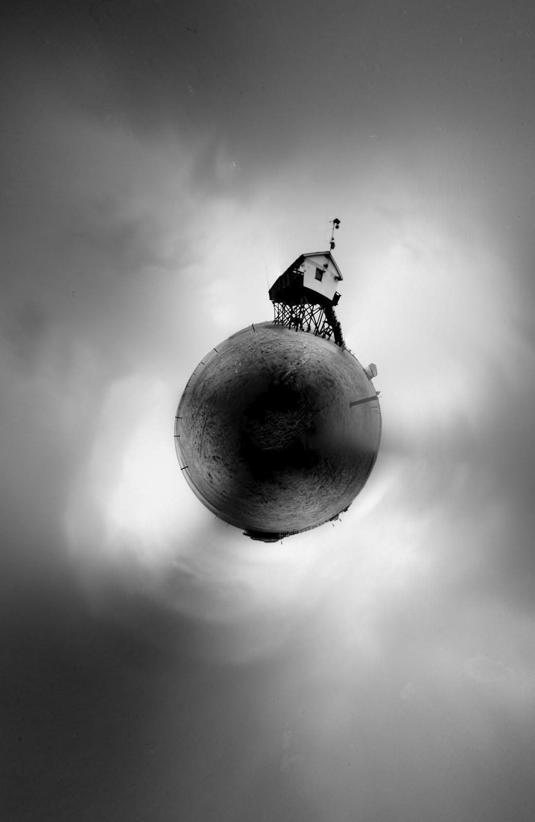 Sankt Peter-Ording Kleiner Planet , Lochkamera Fotografie