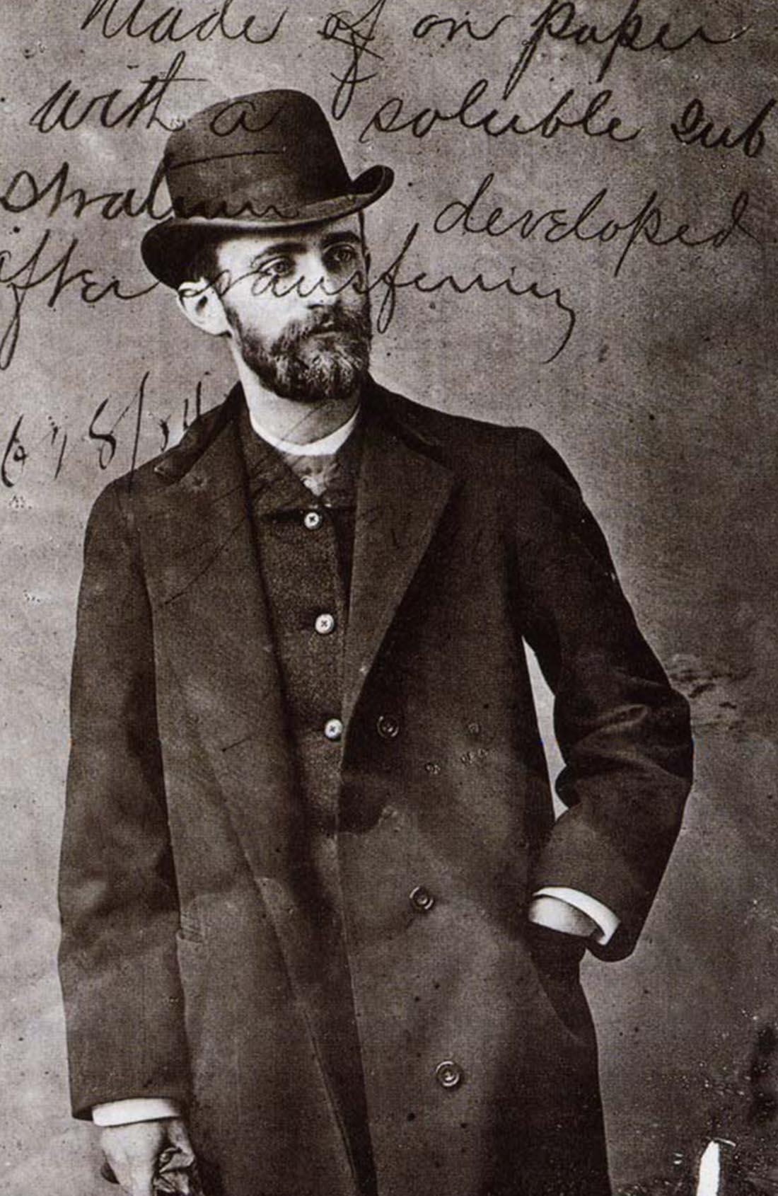 George Eastman auf einem Foto von 1884