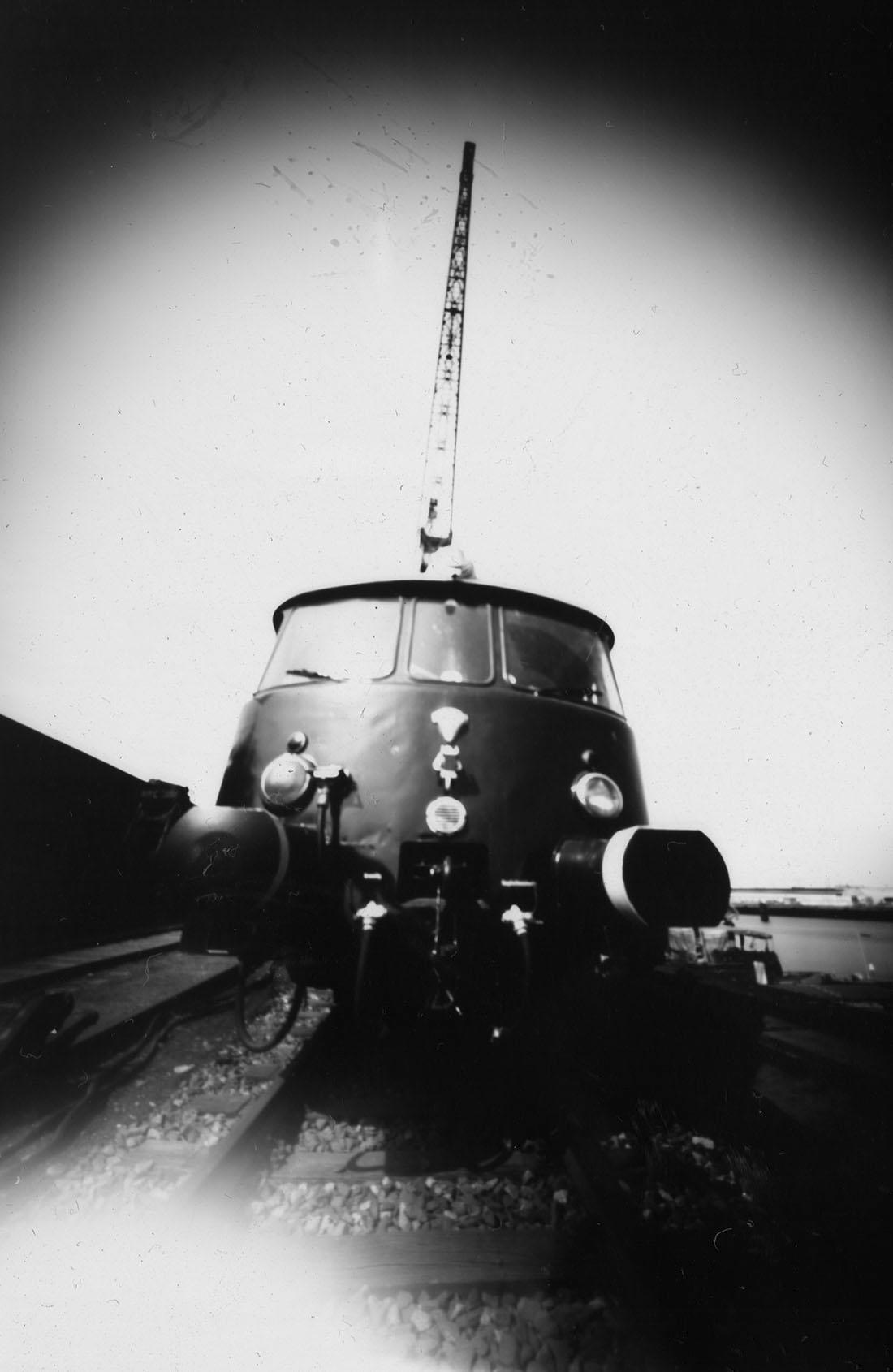 Hamburger Hafenbahn Fridolin, Lochkamera Fotografie