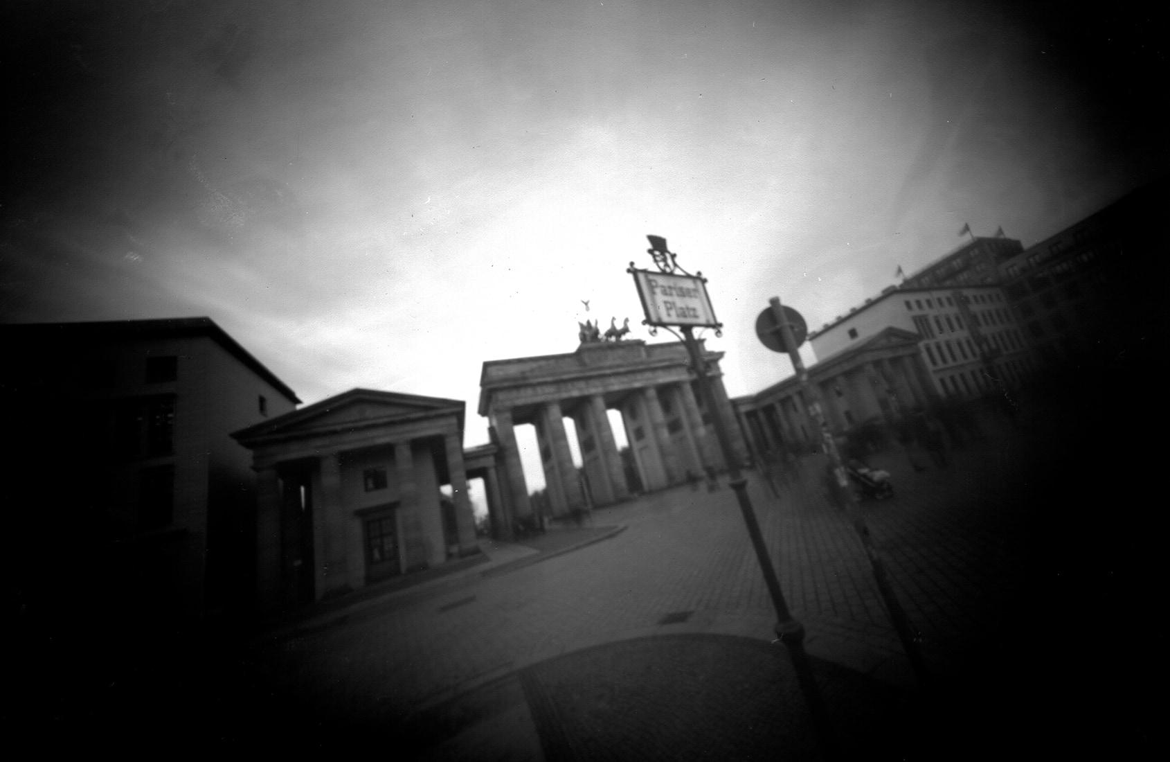 Pariser Platz, Berlin, Lochkamera Fotografie
