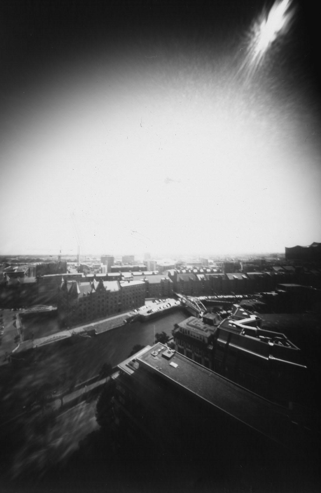 Hamburg Speicherstadt, von oben fotografiert Lochkamera Fotografie