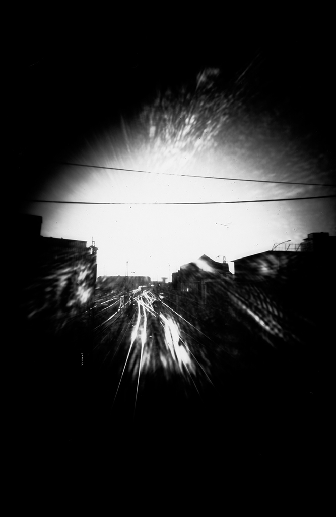 Weichen fotografiert mit einer Pinhole-Kamera
