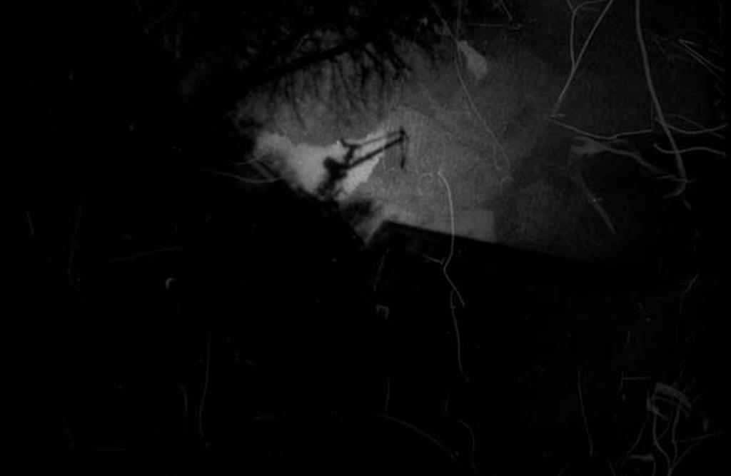 Blohm und Voss Kran fotografiert mit einer Lochkamera auf Papiernegativ