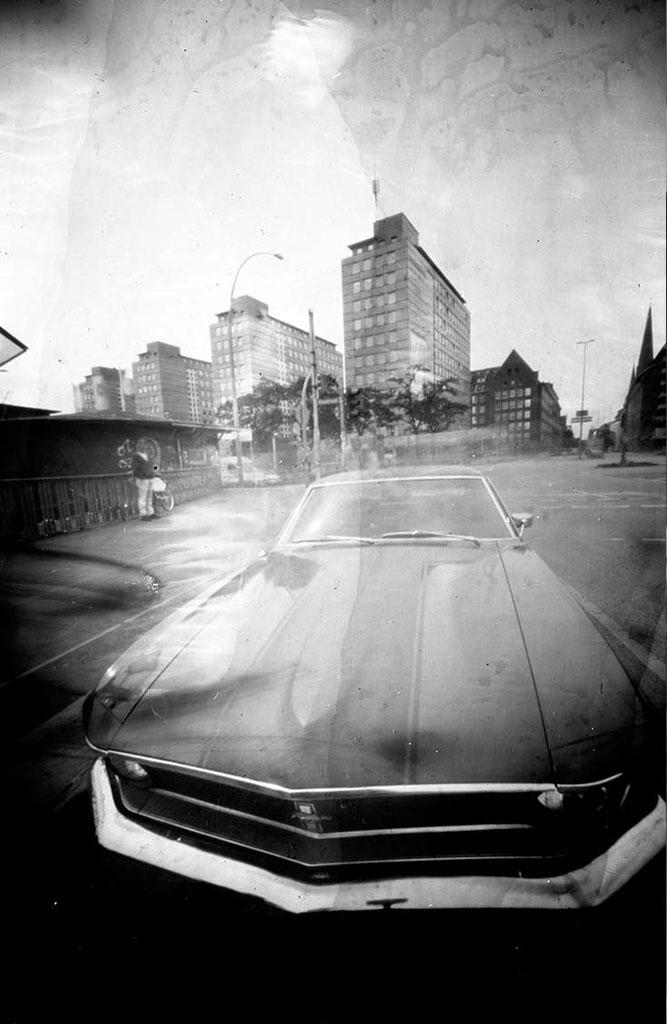 Ford Mustang aufgenommen mit einer Lochkamera