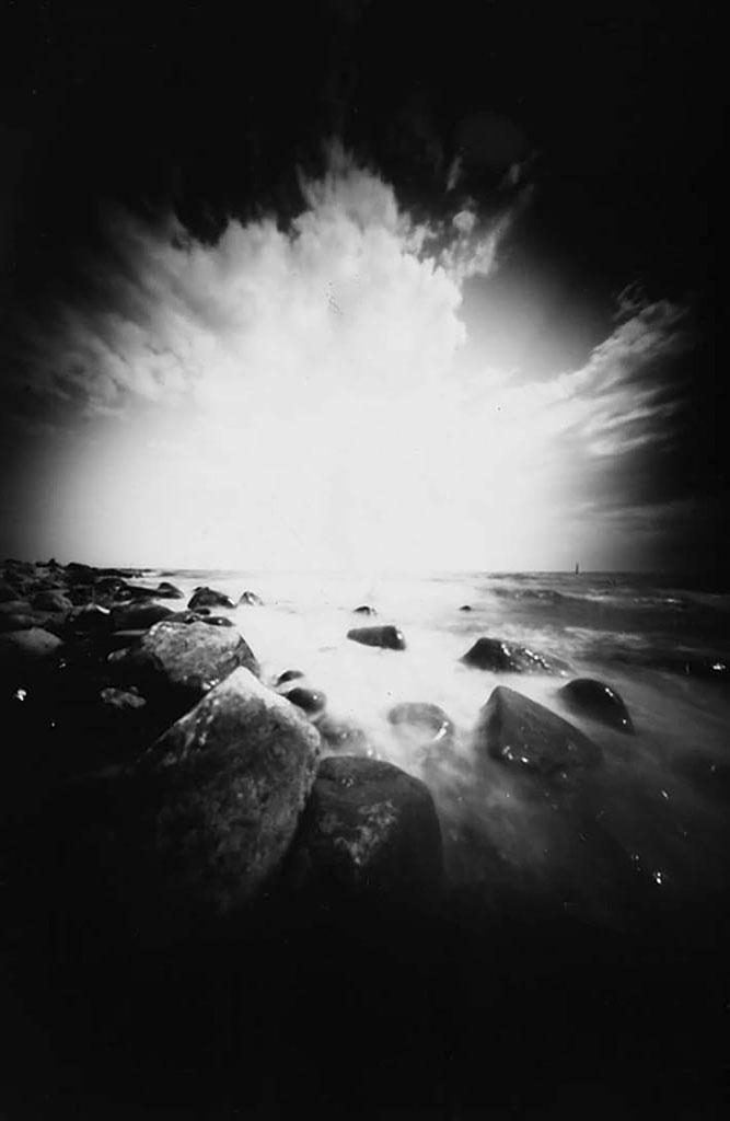 Ostsee fotografiert mit einer Camera Obscura