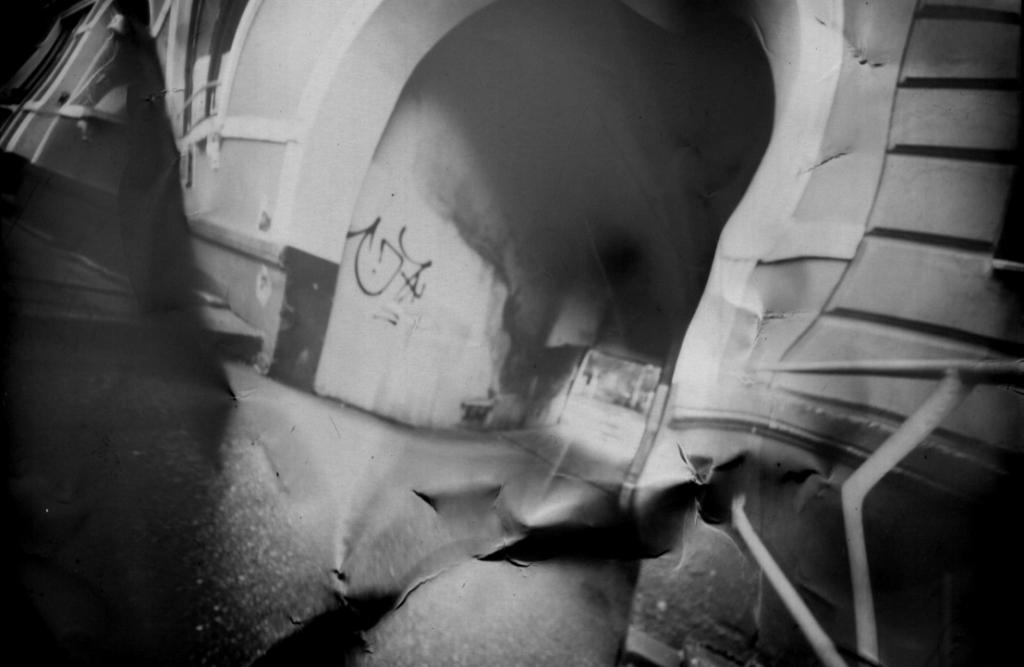 Haushöhle Inselmitte Deformations-Fotografie einer Camera Obscura