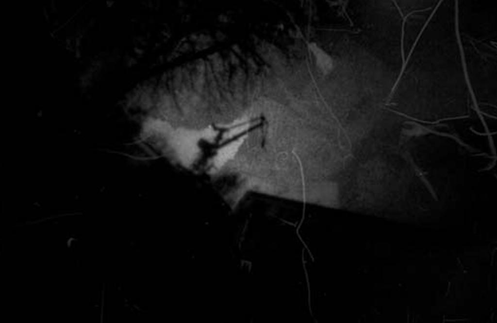 Kran bei Blohm & Voss fotografiert mit einer Lochkamera